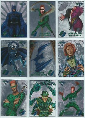 Batman Forever Silver Flasher Parallel - Complete Card Set (100) 1995 Metal - NM