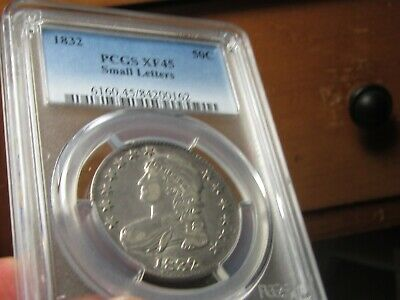1832 Capped Bust Half Dollar  Pcgs Xf-45 Small Letters  Very Nice For The Grade