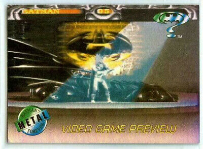 Batman Forever - Video Game Preview Card A-1 - Acclaim - 1995 Fleer Metal - NM