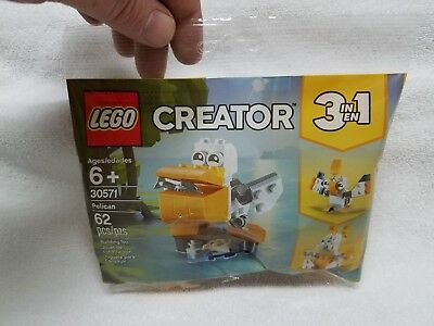 Lego Creator 3 in 1 Pelican Polybag 30571 New Sealed