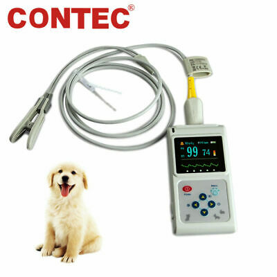 Veterinary Pulse Oximeter Tongue/ Ear Probe SPO2 PR heart rate Monitor Pets VET