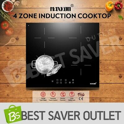60cm 4 Zone Electric Induction Ceramic Cooktop Hob Touch Control Timer 7000W New