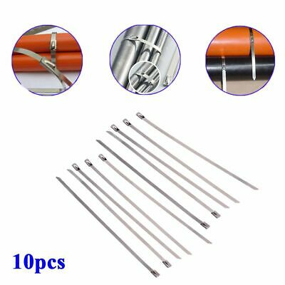 Stainless Steel Exhaust Header 10pcs 4.6*200mm Self Locking Cable Zip Tie Straps