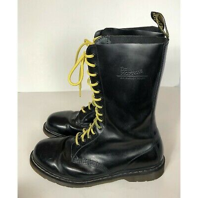 buy popular fc721 38686 $170 DR. MARTENS 1914 Smooth Black Boots Size 14