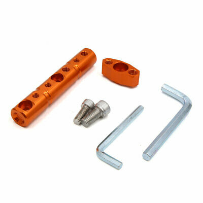 Orange Motorcycle Scooter Multi-function Extension Bar 8mm 10mm Hole Dia