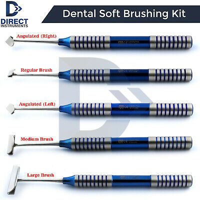 Dental Soft Brushing Kit PRF Lingual Tissue Flap Surgery Implant Instruments CE