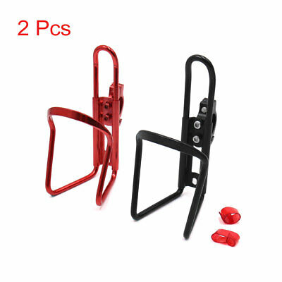 2Pcs Black Red Cycling Bike Bicycle Drink Water Bottle Cup Holder Mount Cage
