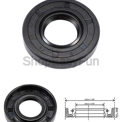 sourcing map Oil Seal TC 20mm x 38mm x 10mm Nitrile Rubber Lid Double Lip