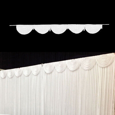 AU 3M White Background Backdrop Drape Sheer Curtain Swag Wedding Party