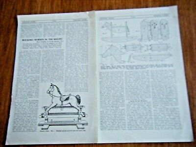 Instructions For Making A Vintage Rocking Horse