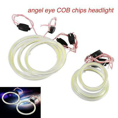 1pair Auto Halo Rings Angel Eye COB Chips Headlight DRL LED For Motorcycle Car