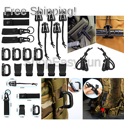 c066a1fd28eb 5PCS TACTICAL GRIMLOC Safety Safe Buckle MOLLE Locking D-ring ...