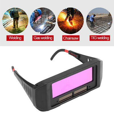 Solar Auto Darkening Welding TIG MIG MMA Goggles Welder Eyes Glasses With Strap