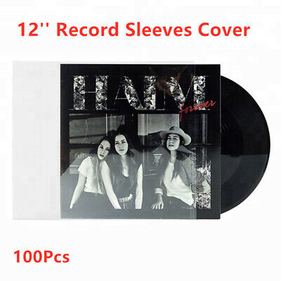 100Pcs 1KG 12'' Clear Plastic Outer Sleeves 4 Mil Resealable for LP Vinyl Record