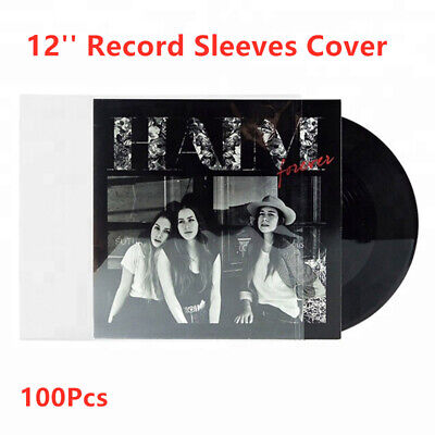 100Pcs Resealable 4 Mil Plastic Vinyl Record Dics Outer Sleeves For 12'' LP