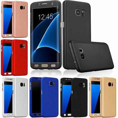 Hybrid 360° Full Case Cover + Tempered Glass For Samsung Galaxy J4 Plus