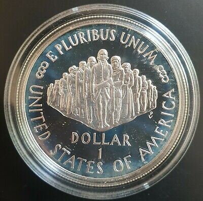 1987 United States Constitution PROOF Silver Dollar Coin in Mint Capsule....