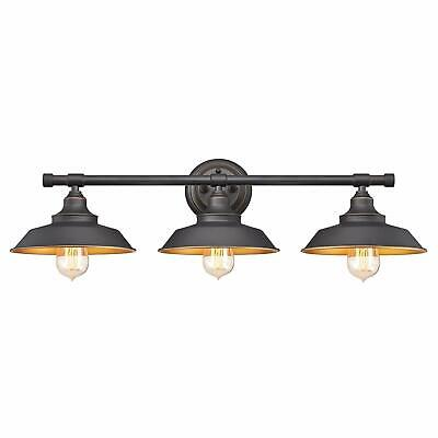 Bathroom Vanity Light Wall Fixture Rustic Farmhouse Decor Oil Rubbed Bronze