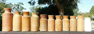 Antique 1860 To 1870 Stoneware Pottery Presever, Blacking ,honey Jar Old Bottles