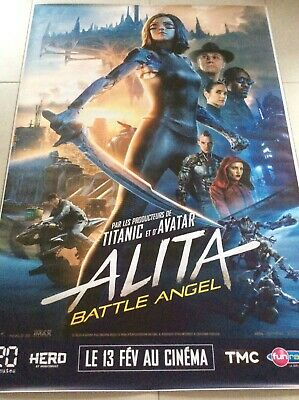 Affiche cinéma 160x120cm du film Alita Battle Angel - 2019