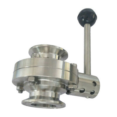 "25mm/0.98"" Tri Clamp Sanitary Butterfly Valve Stainless with Pull Handle"