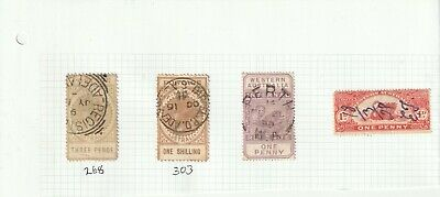 Used Australian Colonial State Postage Stamp & Revenues Mix on Paper