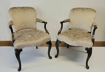 Pair of Victorian Mahogany Chairs Circa 1880