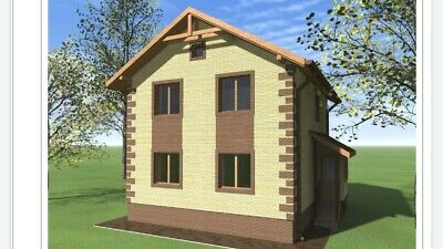 The project is a two-story stone house. Description in Russian. Email Delivery.