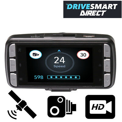 Drivesmart Pro HD Speed Camera Detector & DVR Dash Cam - Inc FREE Data Updates