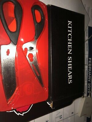 """8"""" Kitchen Shears Scissors for Meat Poultry Herbs Food - Stainless Steel Blades"""