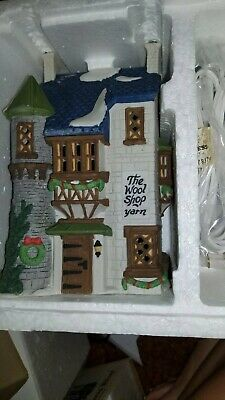 The Wool Shop Dept 56 Dickens Village 59242 Christmas Victorian store heritage A