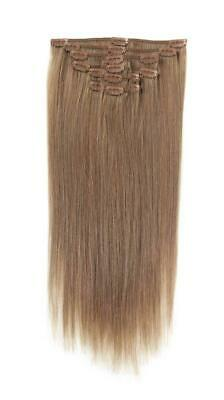 Full Head | Clip in Hair | 18 inch | Light Mousey Brown (18)
