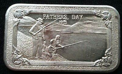 1973 Fathers Day Mother Lode Mint  1 troy oz .999 Fine Silver Art Bar
