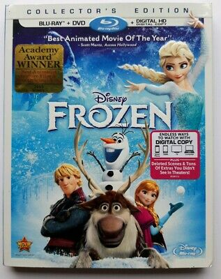 Frozen (Blu-ray/DVD, 2014, 2-Disc Set, Includes Digital Copy) w/Slip Cover