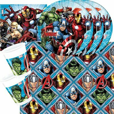 37-tlg. Party Set Marvel Mighty Avengers Geburtstag Birthday Hulk Ironman Marvel