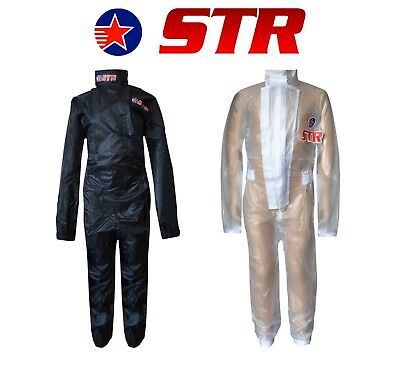 STR Kids/Child Waterproof Wet Weather Driving Rain Suit Go Kart XS - 3X Colours