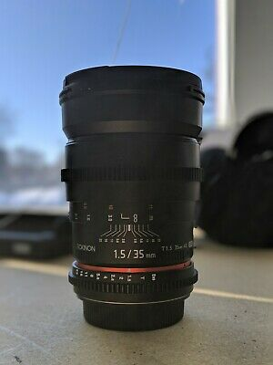 Rokinon Cine 35mm T1.5 for Canon EF - Great Condition