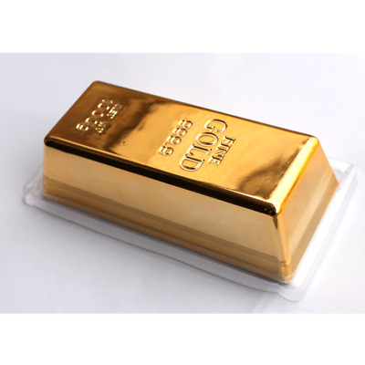 1pcs Goldbarren Türstopper Briefbeschwerer Simulation Ziegel Fake Gold Bar Decor