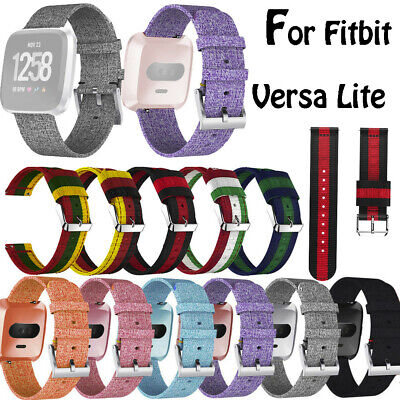 Fashion Woven Fabric Replacement Watch band Wrist Straps For Fitbit Versa Lite