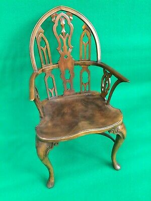 Vintage Antique Carved Oak Chair 18th 19th Century