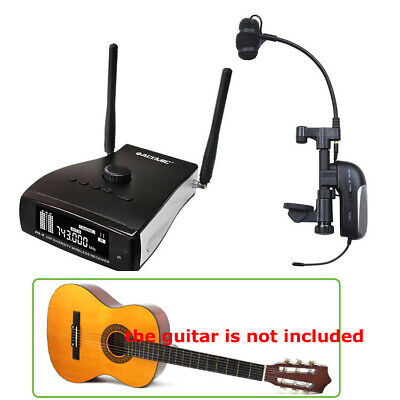 UHF Professional Wireless Instrument Microphone System for Acoustic Guitar