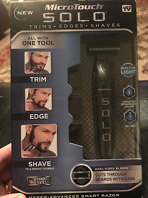 MicroTouch Micro Touch SOLO Rechargeable Trims Edges SMART Razor Shaver