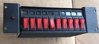 Police Vehicle Light Control Switch Box With Mounting bracket Clean Condition.