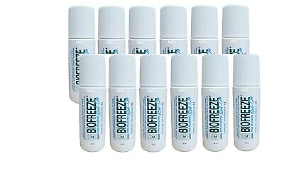 New Biofreeze 3 oz Roll On Gel - EU Packaging 3.5% Menthol 12 Pack EXP 2021