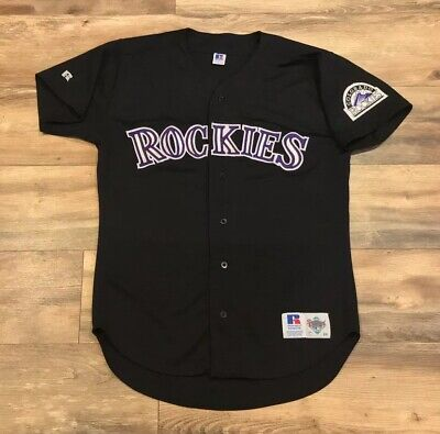 best authentic 14d60 f1de8 VINTAGE COLORADO ROCKIES MLB Sewn Russell Athletic Diamond ...