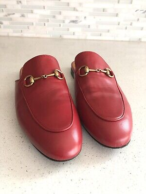 7f1147b18 GUCCI PRINCETOWN MULE Loafer Red Women s Size EU 39 US 9 -  425.00 ...