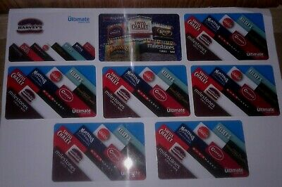 Ultimate Dining Gift Cards lot of 8 Harveys Swiss Chalet Montana's No Value