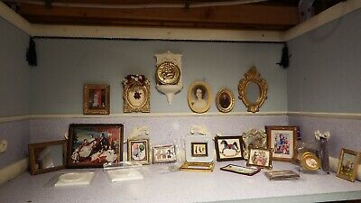 27 doll house assortment job lot of picture/mirror items shop/house 1.12th JB