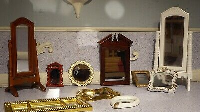 10 doll house assortment job lot of mirror items shop/house 1.12th JB
