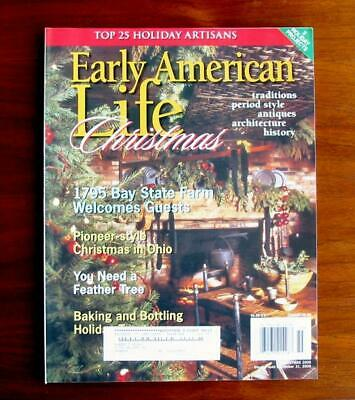 Early American Life Magazine Christmas 2005 Feather Trees Chocolate Molds